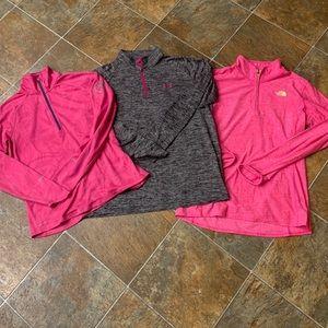 Half Zip Active Tops Bundle North Face Nike UA